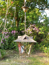 A very pretty unusual Vintage French brass lantern (T157)