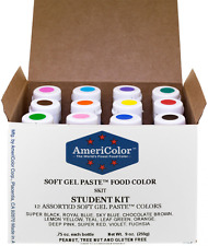 AmeriColor Student Soft Gel Paste Food Color, 0.75 Ounce, 12 Pack Kit