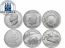 Deutschland 6 x 10 Euro Gedenkmünzen 2010 bfr Komplettserie aller 6 Silbermünzen
