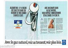 PUBLICITE ADVERTISING 1016  1990  Gaz de France  (2p)  eau chaude
