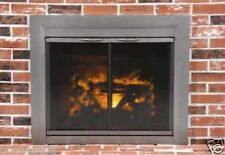 Pleasant Hearth Glass Fireplace Door Craton Gun Metal Finish Small Size w/sceen