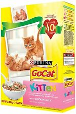 Go-Cat Dry Kitten Food with Chicken, Milk and Added Vegetables 340 g Pack of 6