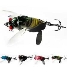 1 Pcs Insects Cicada Fishing Lures Bass Crank Baits 4Cm Float Baits