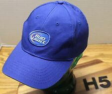 NICE BUD LIGHT BEER HAT BLUE ADJUSTABLE IN VERY GOOD CONDITION