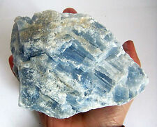 LARGE SKY BLUE NATURAL CALCITE CRYSTAL MINERAL 782g 140mm A-GRADE st87