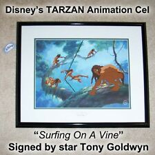 TARZAN Signed Limited Edition DISNEY Animation Cel 1999 TONY GOLDWYN Autograph