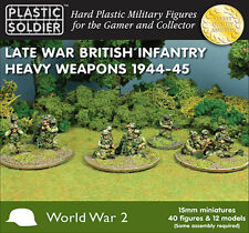 15mm LATE WAR BRITISH INFANTRY HEAVY WEAPONS - PLASTIC SOLDIER COMPANY - WW2