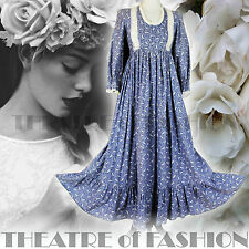 VINTAGE LAURA ASHLEY DRESS 70s WEDDING UK 6 8 10 INDIAN 60s BOHO VICTORIAN WALES