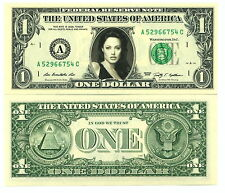 ANGELINA JOLIE VRAI BILLET de 1 DOLLAR - SUPERBE! Collection Hollywood actrice 4