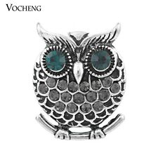 Vocheng 4 Colors Snap 18mm Owl Metal Button Jewelry Vn-900