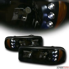 Euro Style Smoke Tint LED Head Lights Lamps Amber AW 99/00+ Sierra/Yukon/Denali
