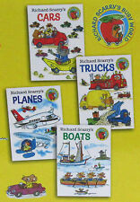 Richard Scarry Cars,Trucks,Planes & Boats 4 Board Book Set NEW