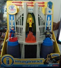IMAGINEXT DC SUPER FRIENDS HALL OF JUSTICE W/ BATMAN & SUPERMAN POWER PAD CHH94