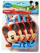 Disney Mickey Mouse Blowouts (8PC) Birthday Party Supplies Favors Noisemakers