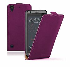 SLIM PURPLE Leather Flip Case Cover Pouch For Mobile Phone HTC Desire 530
