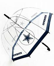 NFL UMBRELLA, OPENS WIDE, CLEAR-SEE THROUGH, TEAM LOGO-NAME: DALLAS COWBOYS