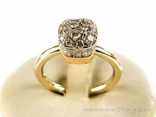 POMELLATO Ring Nudo Solitaire Weiss- Rotgold 18Kt Diamanten ct 0,83 Gr 52. NEU!