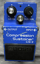 BOSS CS-2 COMPRESSOR/SUSTAINER PEDAL. MADE IN JAPAN.