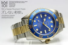 New Model 101 HYAKUICHI 9th Watch Sweep Second Moves in 1/4 Movement Blue x Gold