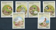 Benin 1995 MNH 6v, Birds with thier young ones, Feeding, Nest