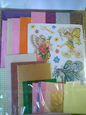 DIY Flower Fairy Card Making Craft Kit - Make 5 Cards! With Free Paper Samples