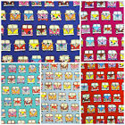 Retro Camper Van Fabric 100% Cotton Childrens Novelty Fabric 3 sizes Available.