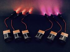 6 pcs 3 purple 3 Orange LED micro effects prop scenery decor lights 9V PM_PO9V6P