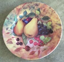 Email de Limoges STILL LIFE FRUIT by Fiorilli SALAD PLATE SERVING DISH - PEARS
