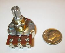 500K OHM AUDIO TAPER  BOURNS POTENTIOMETER 24mm KNURLED SHAFT 1 PC.  NOS