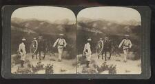 DOUBLEDAY PAGE STEREOVIEW  Russia Japan War - Japanese Transporting Machine Guns