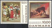 Denmark 1984 Art/Paintings/Carnival/Pierrot/Clown/Cattle/Artists 2v set (n30044)