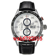 44mm PAGANI design white dial date full chronograph week quartz mens WATCH N046