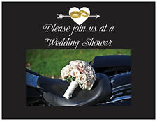 20  MOTORCYCLE Harley BOUQUET Bridal WEDDING Shower INVITATIONS & ENVS Seals