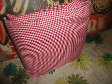 POTTERY BARN KIDS TWIN DUVET BUTTON UP COVER RED GINGHAM COTTON 66 X 82
