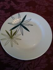 PIER 1 KUI HUA SALAD PLATES GREEN SILVER WHITE EIGHT PLATES