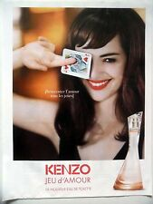 PUBLICITE-ADVERTISING :  KENZO Jeu d'Amour  2015 Louise Bourgoin,Eau de Toilette