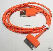 Fabric Braided Sync Charge Cable For iPhone 3/4S iPod Touch 3G/S/4/4S iPad Nano