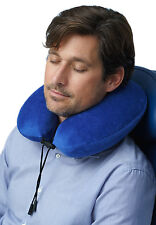 Curl™ Travelrest Memory Foam Neck Pillow w/ Soft Washable Cover NEW (repackaged)