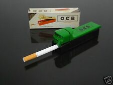 OCB Green Manual Tobacco Roller Maker Cigarette Rolling Machine Injector #88