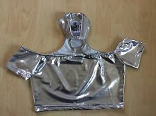 The Ragged Priest Crop Top In Silver New Without Tags
