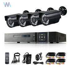 Waterproof 4CH DVR HDMI CCTV Camera Outdoor IR Night Vision Home Security System