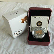 CANADA 2012 FAREWELL TO THE ONE CENT .9999 FINESILVER PROOF - complete