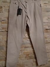 DOLCE & GABBANA BLACK LABEL COTTON PANTS, VERY LIGHT GREY, SZ ITAL 54/US 38