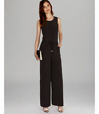 Karen Millen Black Sporty Zip Wide Leg All In One Trousers Jumpsuit Dress Up 12