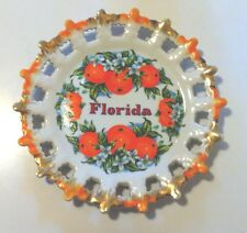 BEAUTIFUL STATE OF FLORIDA SOUVENIR COLLECTOR PLATE - ORANGES