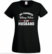my favourite disney prince is my husband large black fotl ladyfit t-shirt new