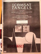 COMSAT ANGELS Do The Empty house 1981 UK Poster size Press ADVERT 16x12 inches