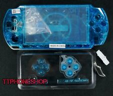 Crystal Blue Housing Faceplate Case Cover for PSP 3000 Slim ( Factory B )