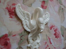 Shabby & Chic SWAN Bird Furniture Applique Architectural Onlay Leaf Scroll