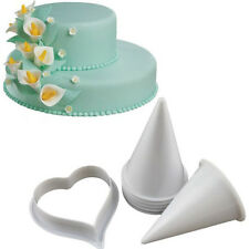 7x Fondant Gum Paste Calla Lily Flower Cutter Mold Sugar Cupcake Wedding Decor